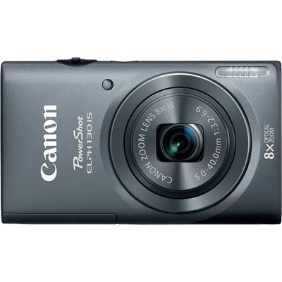 PowerShot ELPH 130 IS Gray 16MP Digital Camera with WiFi and 8x Opt. Zoom