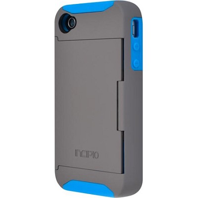 Stowaway Credit Card Case for iPhone 4/4S - Dark Gray/Blue