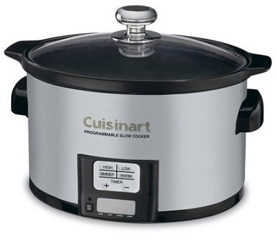 3.5 Quart Programmable Slow Cooker, Brushed Stainless Steel