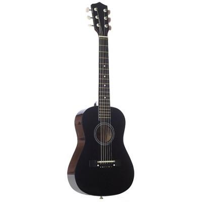 LAPKMBL 30` Student Acoustic/Electric Guitar Package - Metallic Black