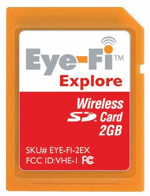 2GB Explore -Wireless Photo Uploads,Geotagging and Hotspot Access - OPEN BOX