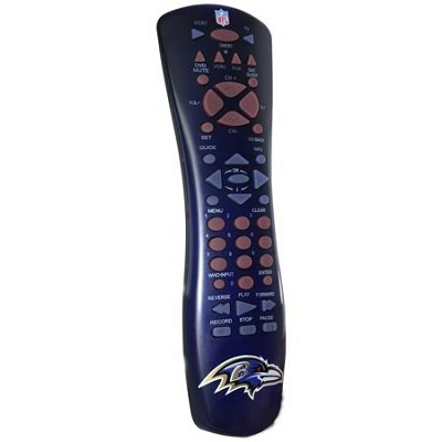 NFL Football Licensed Baltimore Ravens Universal TV Remote Control