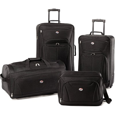 Fieldbrook XLT Four-Piece Luggage Set (Black) 92288-1041