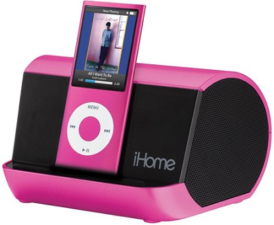 iHM9 Portable Stereo System for iPod, iPhone, and MP3 Players (Pink)