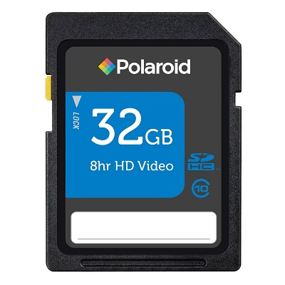 32GB Polaroid High Speed SDHC Class 10 P-SDHC32G10-EFPOL