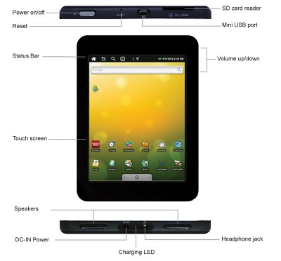 T301 Cruz 7-Inch Android 2.0 Tablet (Black) - OPEN BOX