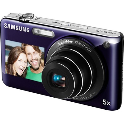 DualView ST600 14MP 3.5 inch Touchscreen Purple Camera w/ HD Video and 5x Zoom