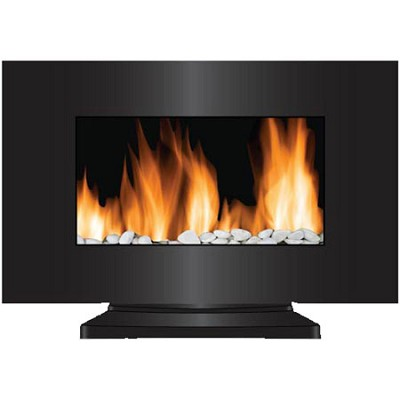 VWF-10305 Vienna 2-in-1 Hanging & Standing LED Fireplace, Color-Changing - Black