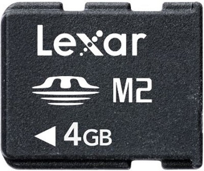 Memory Stick Micro (M2) 4GB Flash Memory Card with Adapter LMSM4GBASBNAA