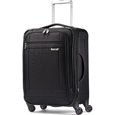 SoLyte 20` Expandable Spinner Carry On Suitcase Luggage - Black
