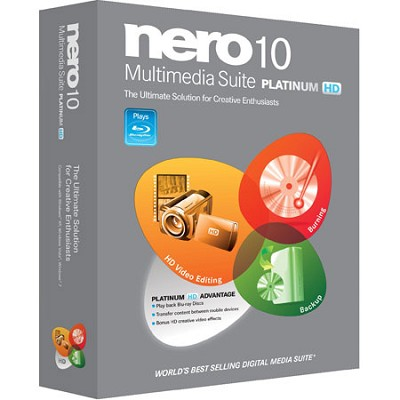 10 Multimedia Suite Platinum HD video, editing, burning, and Blu-ray editing