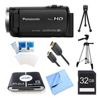 HC-V270K Super Zoom Camcorder 32GB Bundle