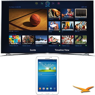 UN60F8000 - 60` 1080p 240hz 3D Smart Wifi LED HDTV - 7-Inch Galaxy Tab 3 Bundle