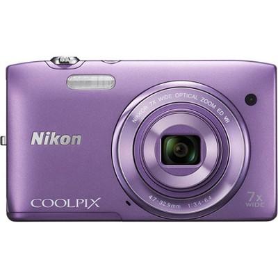 COOLPIX S3500 20.1MP Digital Camera w/ 720p HD Video (Purple) Refurbished