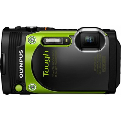 TG-870 Tough Waterproof 16MP Green Digital Camera with AF Lock and 3` LCD
