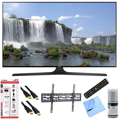 UN55J6300A - 55` HD 1080p 120hz Slim Smart LED HDTV Tilt Mount & Hook-Up Bundle