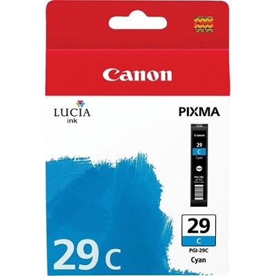 PGI-29 CYAN - LUCIA Series Cyan Ink Cartridge for Canon PIXMA PRO-1 Printer