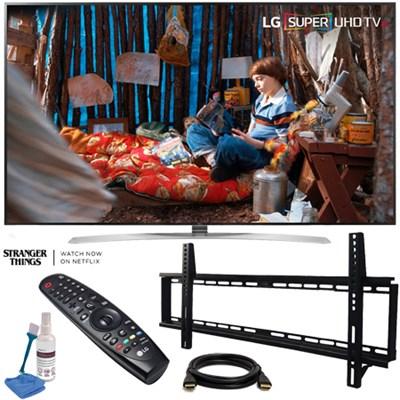 55SJ8000 55` 4K HDR SUPER UHD Smart IPS LED TV (2017 Model) w/ Wall Mount Bundle