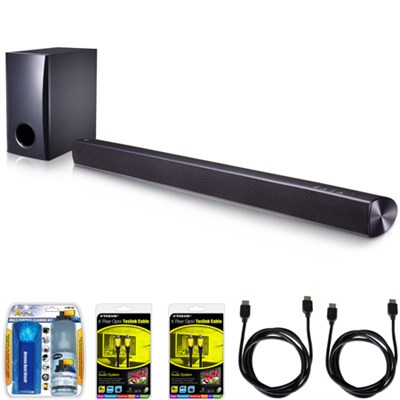 SH2 2.1ch 100W Sound Bar with Subwoofer and Bluetooth Connectivity Bundle