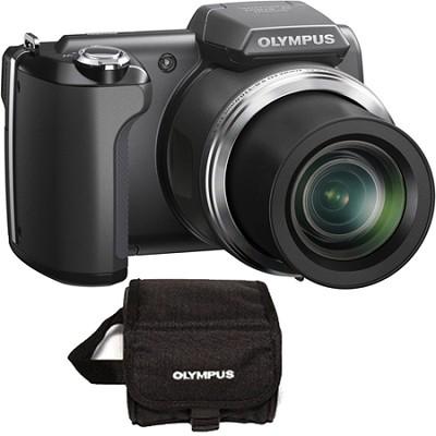 SP-610UZ 14 MP 3-inch LCD Black Digital Camera w/ Free Carrying Case