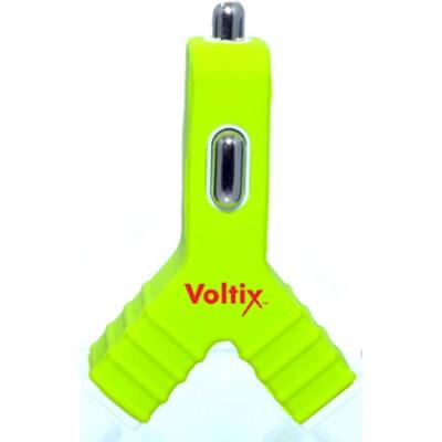 Dual USB Car Charger 3V (1.5V per port) - Green