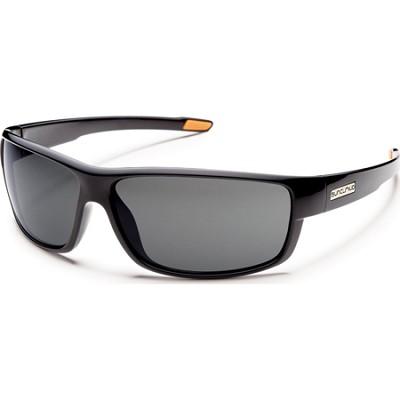 Voucher Sunglasses Black Frame/Gray Polarized Lens