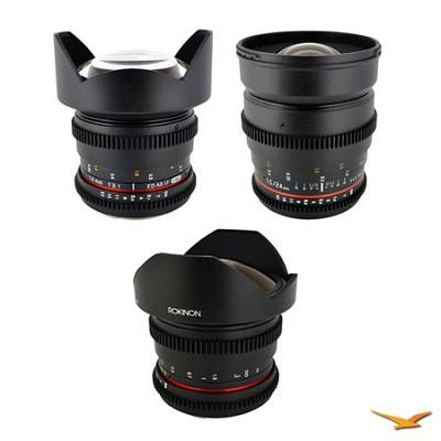 Nikon 3 Cine Lens Kit (14mm T3.1, 24mm T1.5, 8mm T3.8)