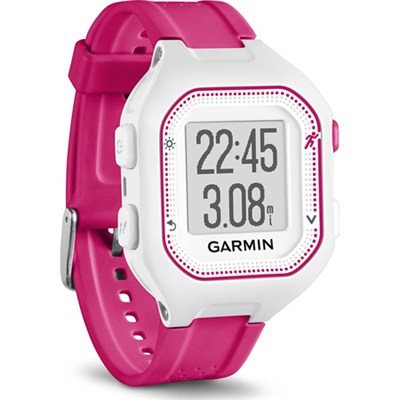 Forerunner 25 GPS Fitness Watch - Small - White/Pink