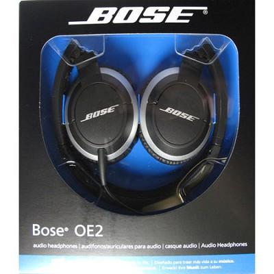 OE2 Black On-Ear Audio Headphones - OPEN BOX