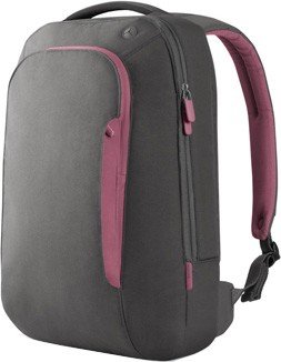 F8N078-SGF-DL 17-Inch Energy Collection Slim Backpack (Gray/Flamingo Pink)