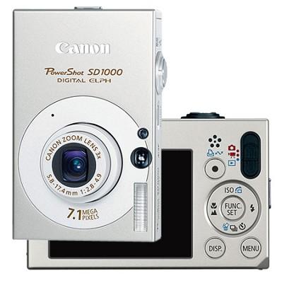 Powershot SD1000 Digital ELPH Camera (Silver) Refurbished