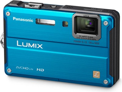 DMC-TS2A LUMIX 14.1MP Waterproof Shockproof Freezeproof Digital Camera (Blue)
