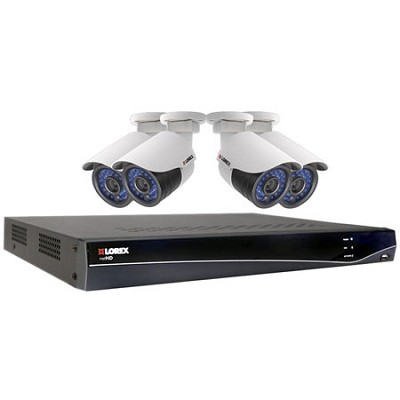 LNR300 Series 8-Channel 2TB Security NVR with 4 HD IP Cameras