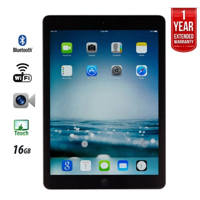 iPad Air A1474 16GB, Wi-Fi, Black (IPADAIRB16) - Certified Refurbished