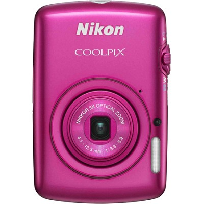 COOLPIX S01 Touchscreen Digital Camera with 3x Optical Zoom (Pink) Refurbished