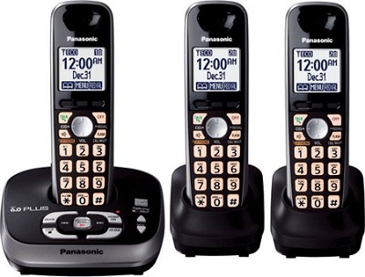 KX-TG4033B DECT 6.0 PLUS Expandable Digital Cordless Answering 3 Handset System