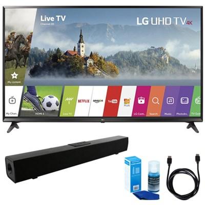 55-inch 4K Ultra HD Smart LED TV (2017 Model) w/ Sound Bar Bundle