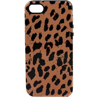 Inlay Print Hybrid Case for iPhone 5 - Cheetah