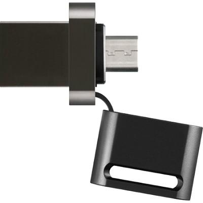 USM8SA1 8GB Microvault USB Flash Drive for Smartphone - Black