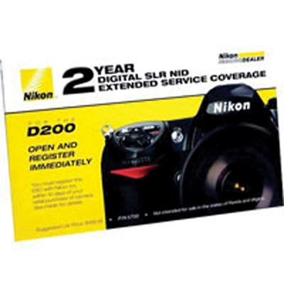 2 year extended warranty by Nikon For the D200 Digital Camera