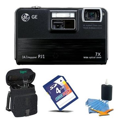 PJ1 14.1MP Digital Camera & PICO Projector 7x Zoom 3 inch LCD Screen Bundle