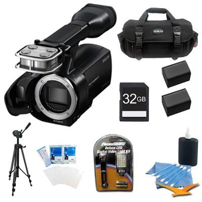 NEX-VG20 Full HD Interchangeable Lens Handycam Camcorder Bundle