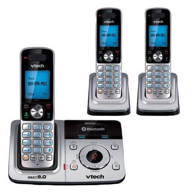 DS6321-3  DECT Cordless Phone with Bluetooth & Phone Book Upload (3 Handset Sys)