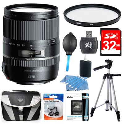 16-300mm f/3.5-6.3 Di II VC PZD MACRO Lens Pro Kit for Canon EF-S DSLR