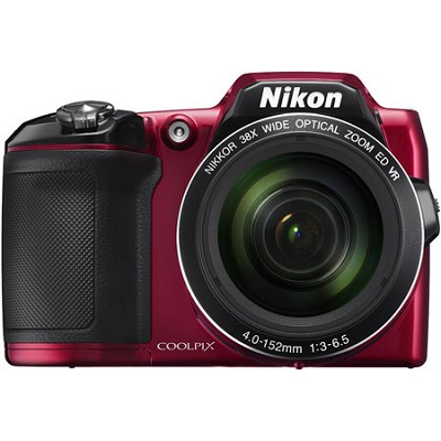 COOLPIX L840 16MP 38x Opt Zoom Digital Camera - Red