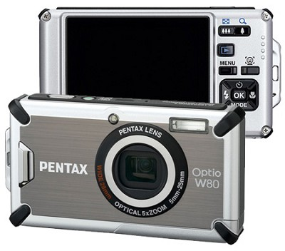 Optio W80 Waterproof Digital Camera (Gunmetal Gray)Outdoor Photo Editor's Choice
