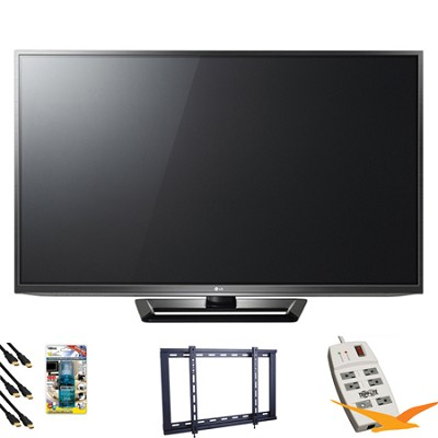 PA6500 60` Class Full HD 1080p Plasma TV Value Bundle