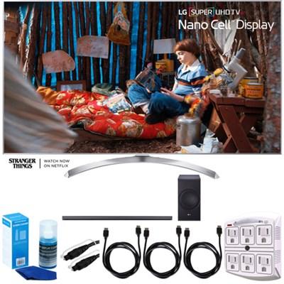 SUPER UHD 60` 4K HDR Smart LED TV (2017 Model) w/ LG SJ8 Sound Bar Bundle