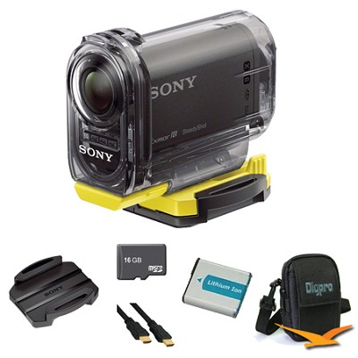HDR-AS10/B Compact POV HD Action Camera Adhesive Mount Bundle