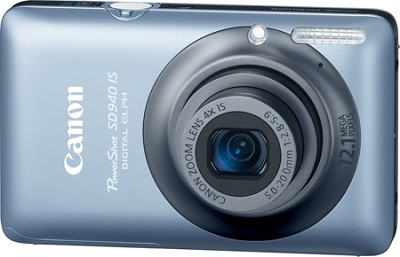 PowerShot SD940 IS Digital ELPH Digital Camera (Blue)